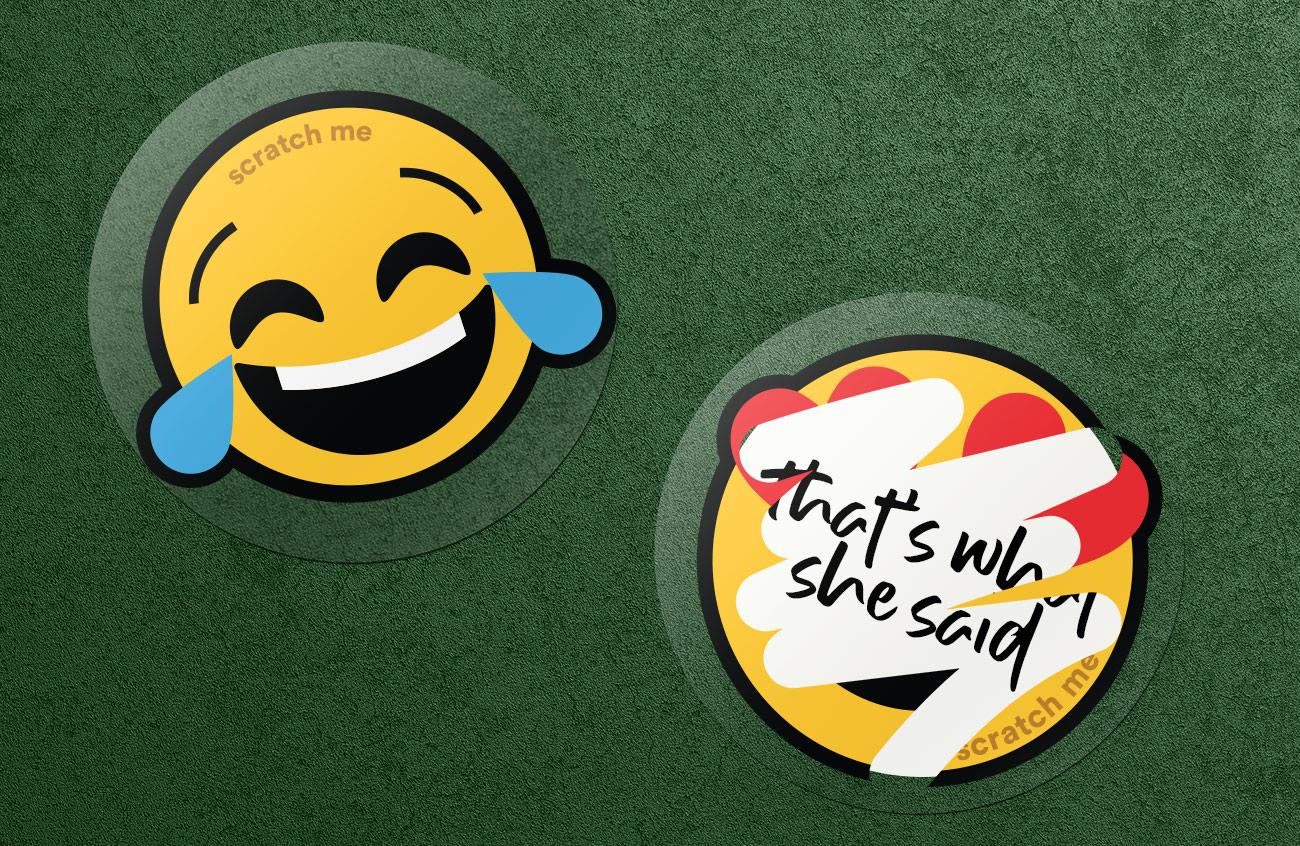 New Emoji for marketing sticker