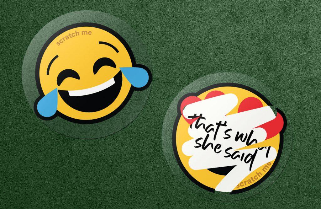 Emoji marketing sticker