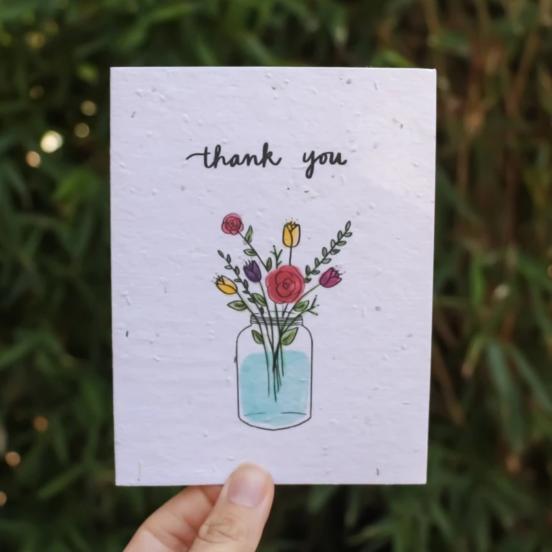 Thank you seed paper greeting card