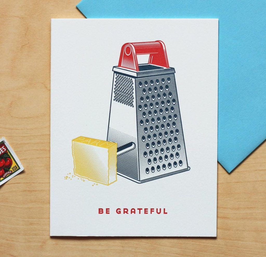 Be grateful card