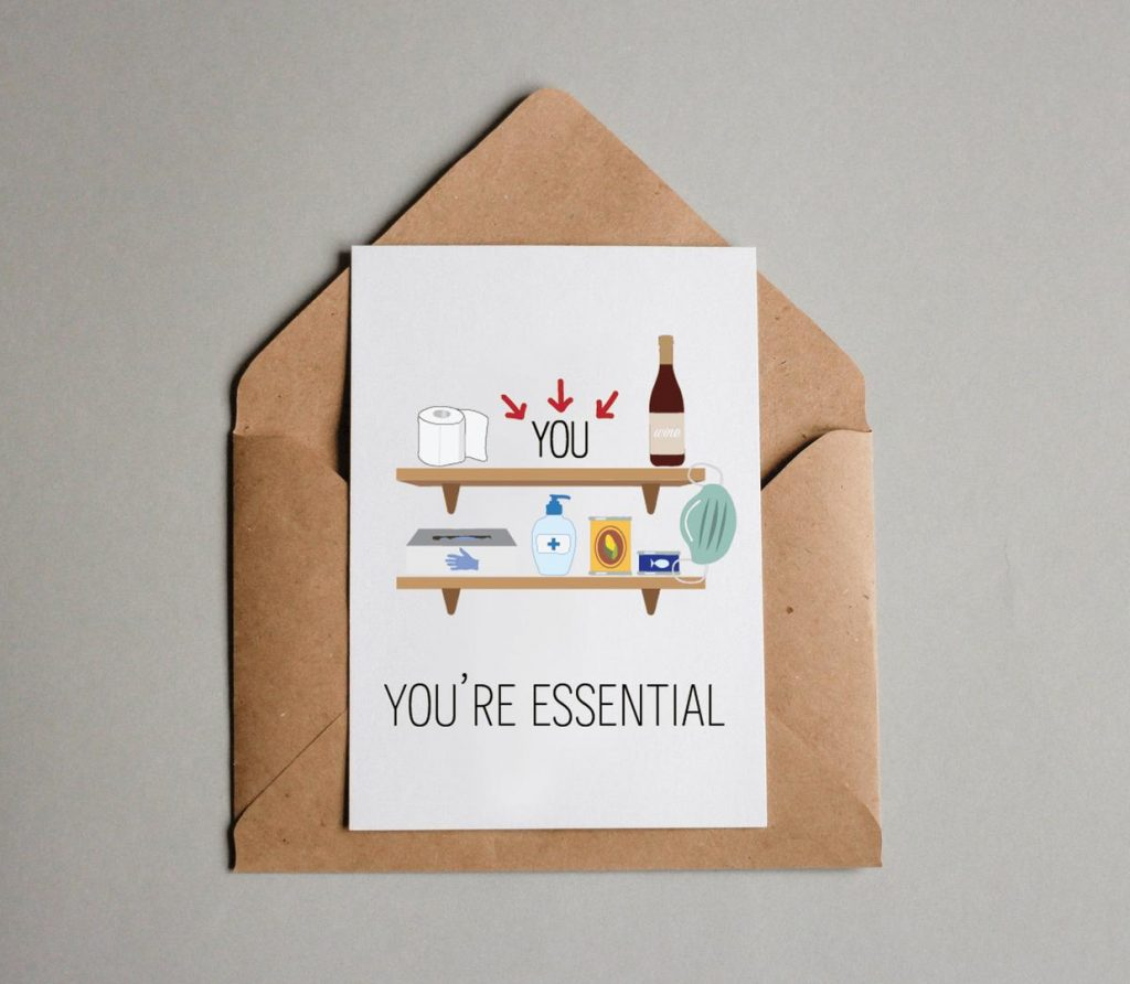 you're essential card